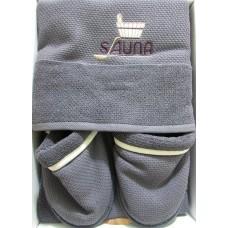 Серый мужской банный комплект Sauna Dufour