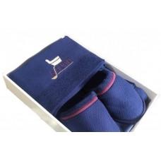 Синий мужской банный комплект Sauna Dufour