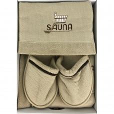 Мужской банный комплект Sauna Dufour капучино