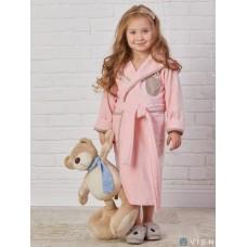 Детский махровый халат Teddy (EFW) (розовый)