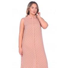 Платье-туника из вискозы Sunrise (PM France 221) (горох (пудра))