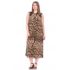 Платье - туника из вискозы Sunrise (PM France 221) (леопард)