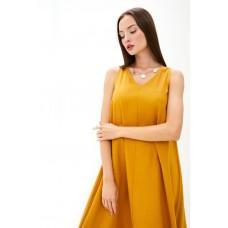 Платье из льна и вискозы Be Free (PM France 229) (горчичный)