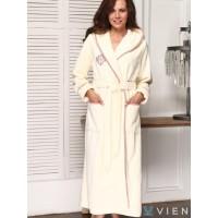 Бамбуковый женский халат Juliette (EFW) (крем)