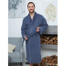 Махровый халат из бамбука Mark II (EFW) (denim)