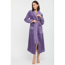 Махровый халат с шалькой Ultra Doux (PM France 742) (сирень)