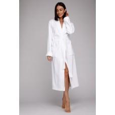 Бамбуковый махровый халат NATUREL (PM 908) (белый)