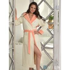 Бамбуковый халат Arianna (EFW) (персик)