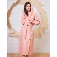 Бамбуковый женский халат Belinda с капюшоном (EFW) (персик)