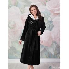 Махровый халат Violetta (EFW) (черный)
