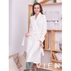 Женский вафельный халат Elizabeth (EFW) (крем)