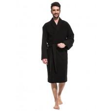 Банный махровый халат Black Label (Е 363/5) (черный)