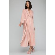 Элегантный велюровый халат из вискозы Passion (PM France 807) (пудра)