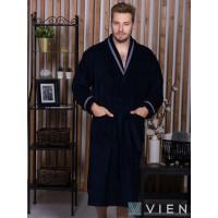 Бамбуковый халат Baron (EFW) (синий)