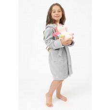 Детский бамбуковый халат Doggy (PM France 9) (серый)