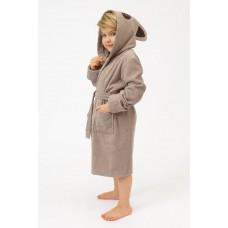 Детский махровый халат Brown Panda (PM France 7) (тёмно-бежевый)