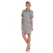 Оригинальный халат из плотного трикотажа L\'étincelle (PM 395) (серый)