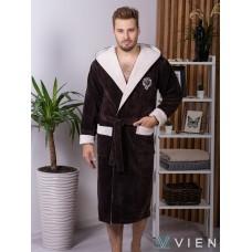 Махровый халат из бамбука Lucas (EFW) (mocaccino)