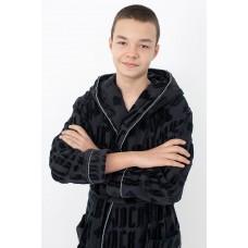 Стильный махровый халат Black Jack Boy (PM France 12) (черный)