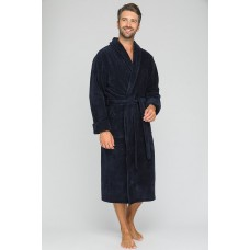 Бамбуковый махровый халат NATUREL Discount (PM 908) (синий)