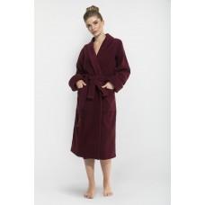Женский махровый халат Red Queen (E 305) (бордо)