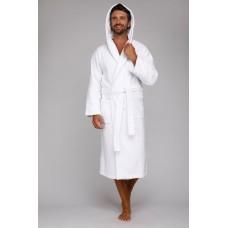 Махровый халат с капюшоном Sport&Life (Е 901) (белый)