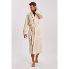 Бамбуковый махровый халат NATUREL (PM 908) (крем)