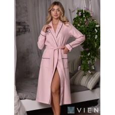 Вафельный халат Vien Spa (EFW) (пудра)