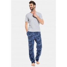 Домашние трикотажные брюки Marine Militaire (PM France 042) (кмф синий)