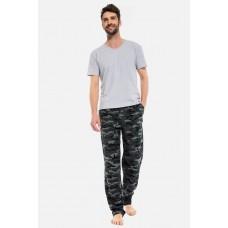 Домашние трикотажные брюки Sombre Militaire (PM France 042) (кмф хаки)