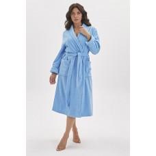 Банный махровый халат Mono (E 701) (голубой)