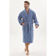 Махровый халат из micro-cottona высокой плотности  Wanted (PM 950) (джинс)