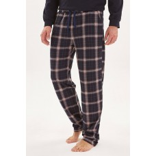 Домашние трикотажные брюки Soul (E № 021) (синий/бежевый)