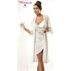 Комплект из 4-х предметов Dolores: пеньюар, сорочка, рубашка и брюки (нежно-белый)