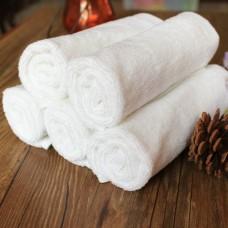 Салфетка махровая 30х30 см. Цвет белый. Высокая крученая петля. Плотность 360 гр/м2 (ET) (белый)