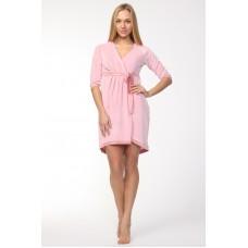 Шикарный велюровый халат (E 714) (нежно-розовый)