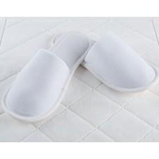 Велюровые тапочки закрытый мыс (EVA 3 мм) (белый)