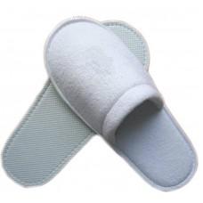 Махровые тапочки закрытый мыс (EVA 5 мм 100% пэ) (белый)