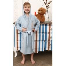 Детский махровый халат Teddy (EFW) (голубой)