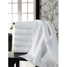 Среднее махровое полотенце. Плотность 450 гр/м2. Цвет белый. 50х90 (ET) (белый)