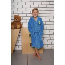 """Детский бамбуковый халат \""""Малыш\"""" (EFW) (голубой)"""