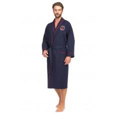 Бамбуковый вафельный халат Suprême (PM France 415) (синий)