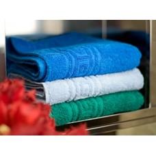 Полотенца гладко-крашенные цветные. Жаккардовый рисунок - греческий узор(не усаживается!). От 120 руб. (синий, темно-зеленый, васильковый, белый, красный, бордовый, оранжевый)