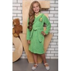 """Детский банный халат из бамбука \""""Малыш\"""" (EFW EVA) (салатовый)"""