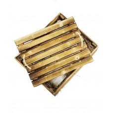 Эксклюзивный набор: халат в деревянной коробке ручной работы Bathrobe Gift Box (EVA) (белый, оливковый, черный, серый, синий, бордо, голубой, кремовый)